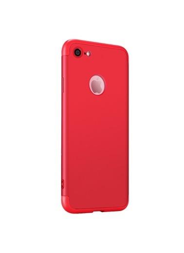 Microsonic Apple iPhone 6 Kılıf Double Dip 360 Protective Kırmızı Kırmızı